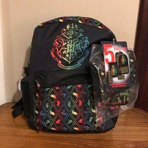 Harry Potter 5 Piece Backpack Set